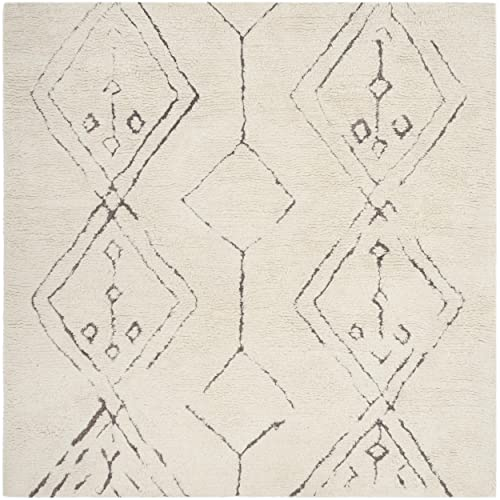 Safavieh Casablanca Collection CSB212A Ivory and Multi Square Area Rug, 6 Square