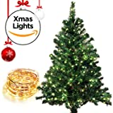 Christmas LED String Lights with 100 LEDs. Waterproof Decorative Christmas Lights - 33 ft (100 LEDs)