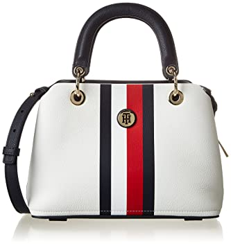 098bbb9b5c Buy Tommy Hilfiger Th Core Med Satchel, Womenâ€TMS Bag, White - Corporate  Mix, 13X18X26 cm - B X H T Online at Low Prices in India - Amazon.in