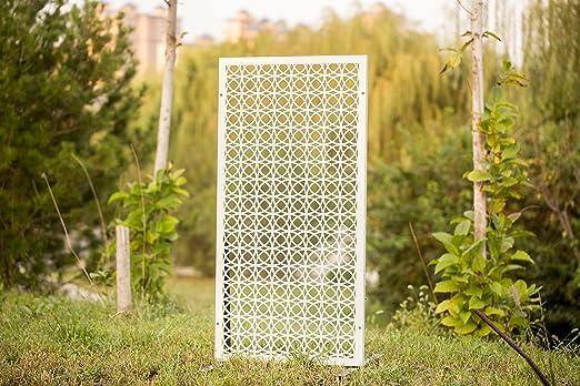 kayee® Biombo, para ventana pared gewö LBT, blanca círculos simétrico, decoración de hogar decoración moderna,