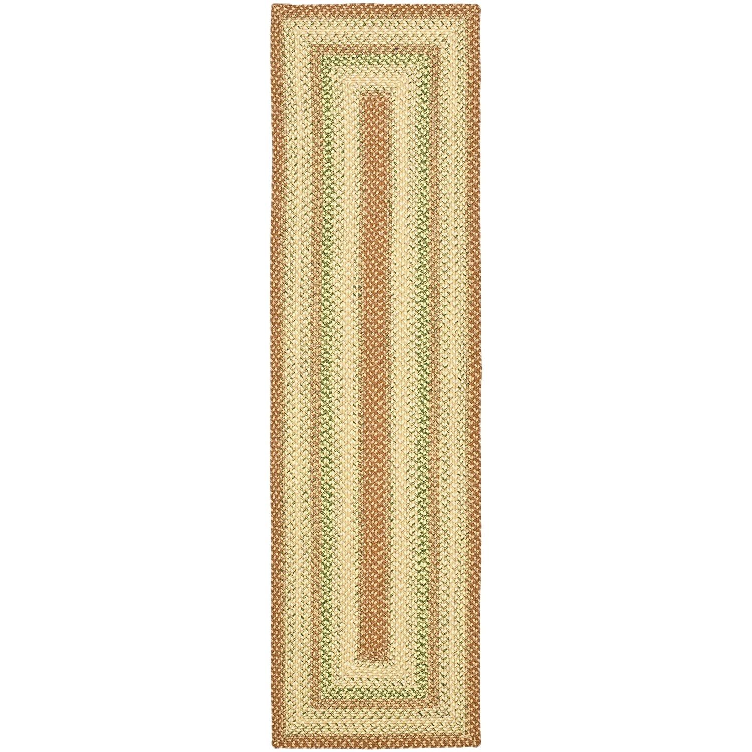 Safavieh Braided Collection BRD303A Hand Woven Rust and Multi Area Rug, 2 feet by 3 feet (2' x 3') BRD303A-2