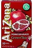 AriZona Pomegranate Green Tea Iced Tea Stix Sugar Free, 0.7-Ounce Boxes (Pack of 6)