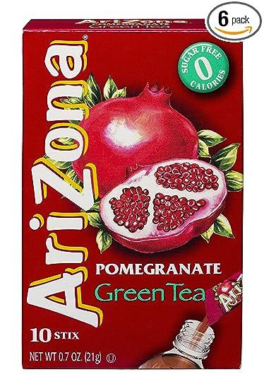 Amazon Arizona Pomegranate Green Tea Iced Tea Stix Sugar Free