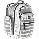 HSD Diaper Bag Backpack for Dad, Large Waterproof Travel Baby Bag for Men + Changing Pad, Insulated Pockets, Stroller Straps and Wipe Pocket. Multi-function, Military Tactical Style (White Camo)