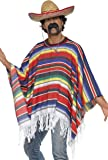Smiffys Poncho Costume multi-colored One Size
