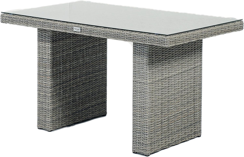 Muebles de Jardín Jardín Mesa Lounge mesa fredo Polirratán: Amazon.es: Jardín