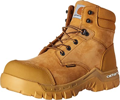 Amazon Com Carhartt Men S 6 Rugged Flex Waterproof Breathable Composite Toe Leather Work Boot Shoes