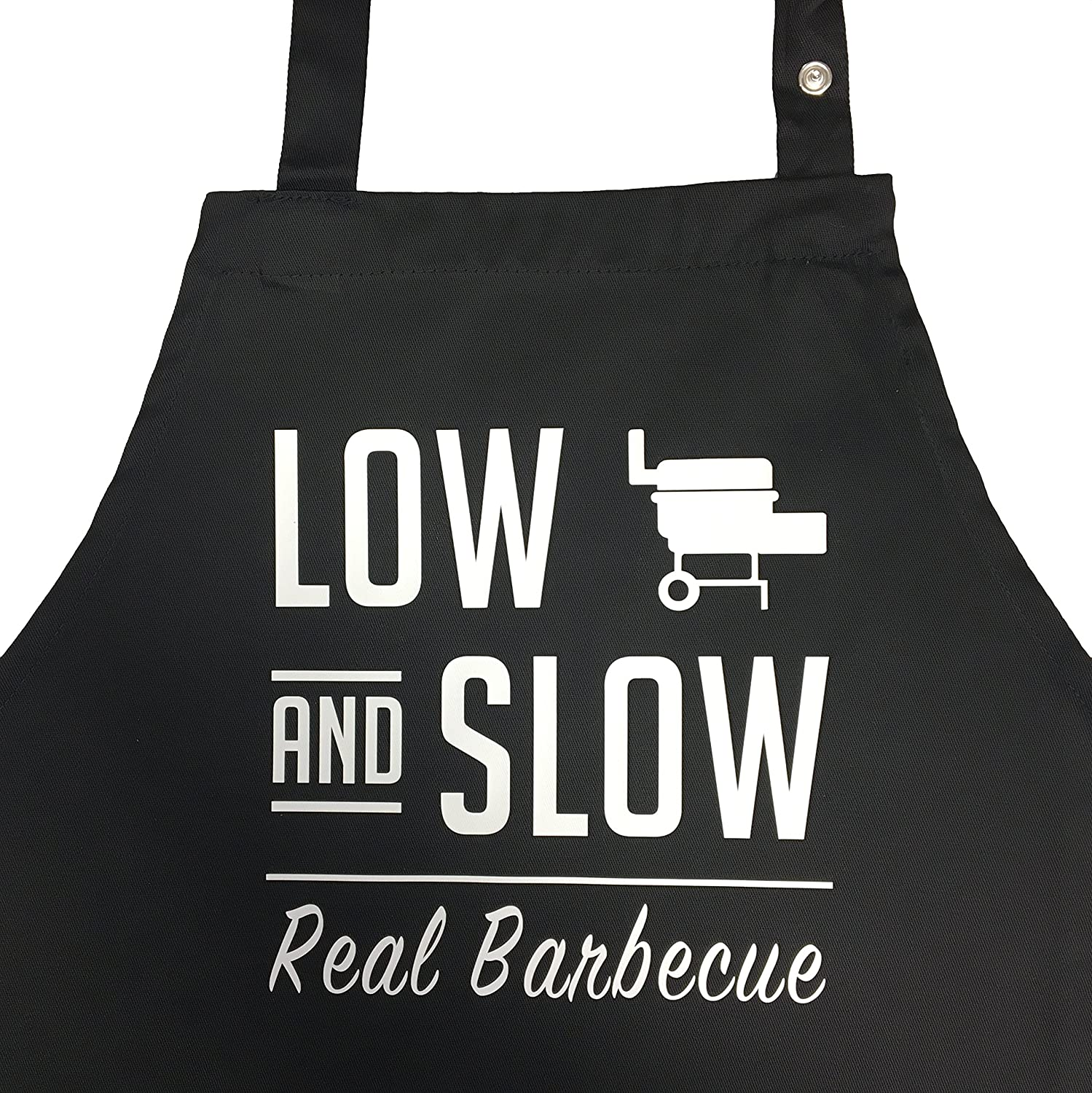 Low and Slow, funny BBQ apron for men, cooking apron, the gift idea for the BBQ smoker fan, the gift for the Kamingrill or charcoal griller