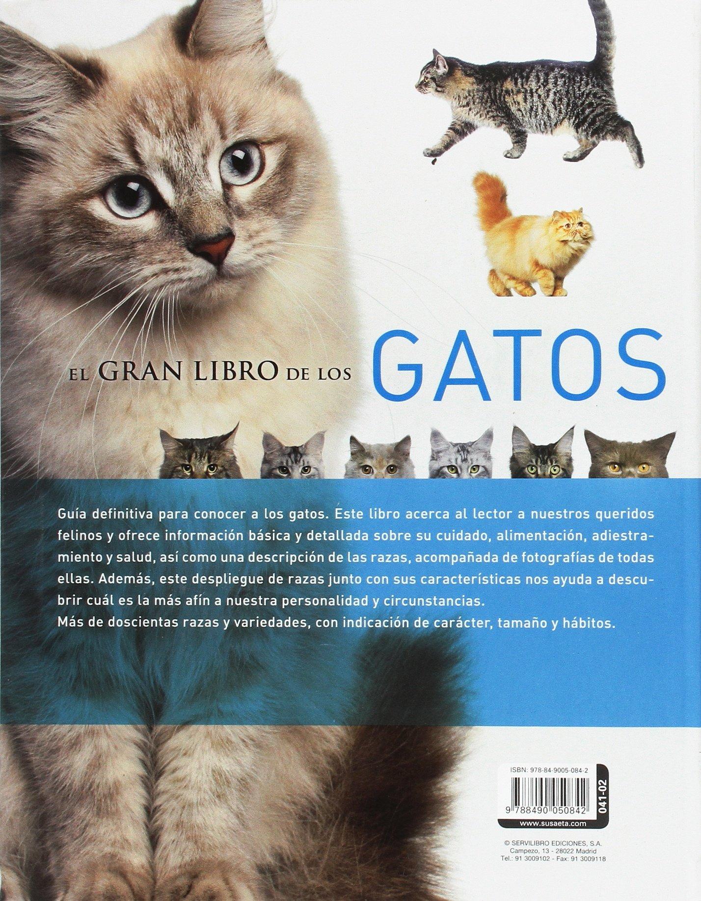 EL GRAN LIBRO DE LOS GATOS. CUIDADO/COMPORT./SALUD/RAZAS: SERVILIBRO EDICIONES S.A.: 9788490050842: Amazon.com: Books