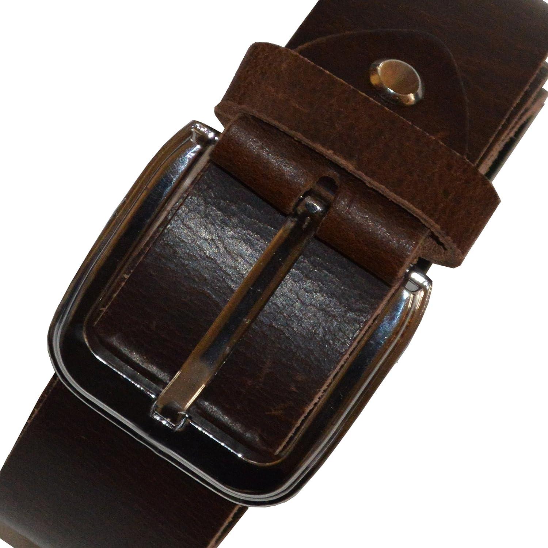Faneema Top Grain Leather Fashion Belt Dark Brown