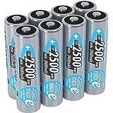 ANSMANN wiederaufladbare Akku Batterien Mignon AA  1 2V / 2500mAh  NiMH - Akkubatterie mit maxE Technologie für Geräte mit hohem Stromverbrauch / Ideal für elektronisches Spielzeug  8 Stück