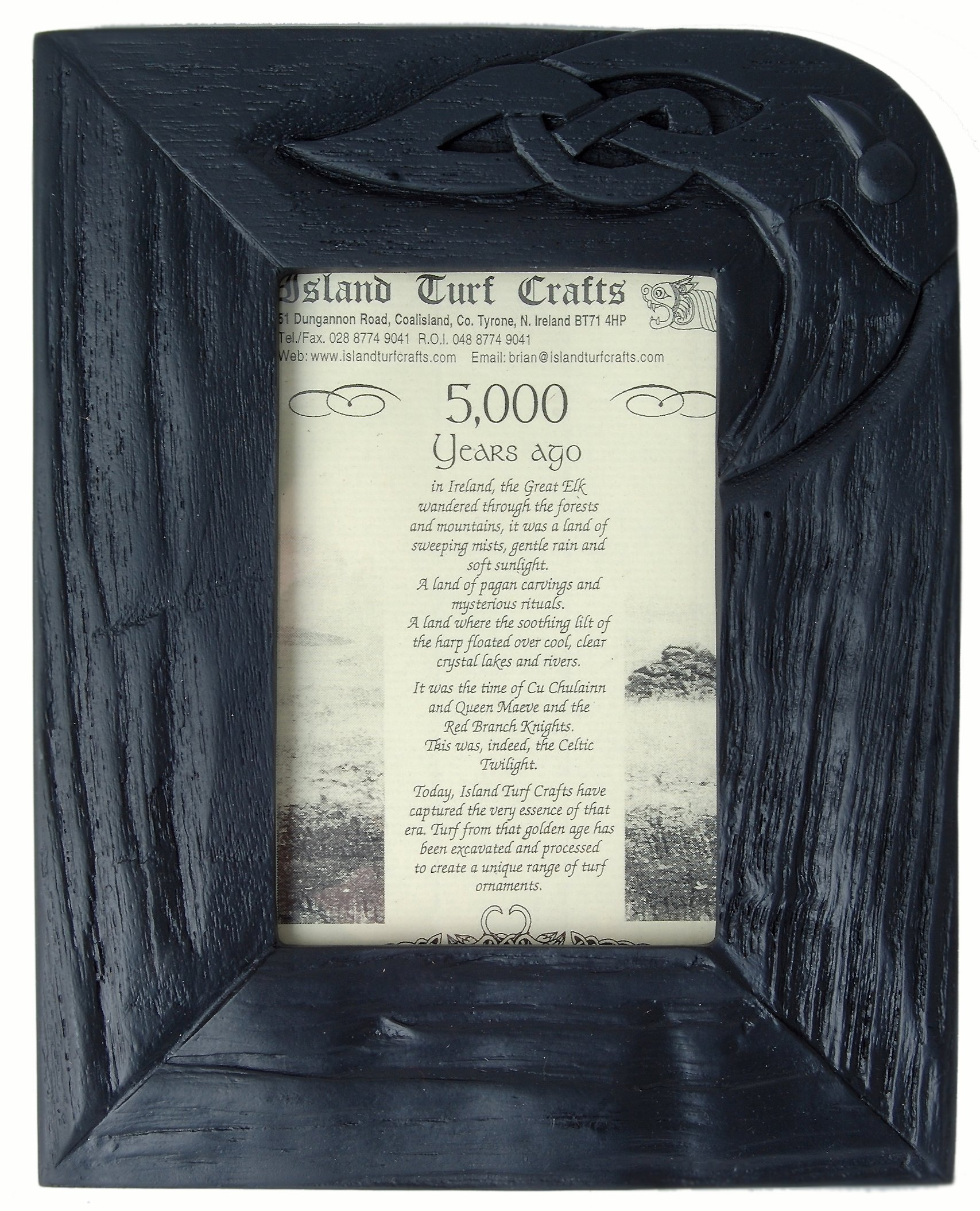 Bog Oak Frame (9'' x 7'') (BK7) by Island Turf Crafts Ltd