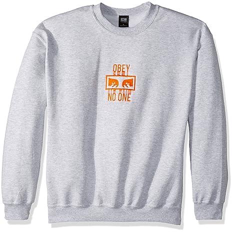 Obey Hombres No One Crew Neck Fleece Sweatshirt Camisa Deportiva: Amazon.es: Ropa y accesorios