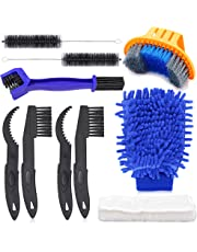 Oumers Bicycle Clean Brush Kit, Motorcycle Bike Chain Cleaning Tools Make Chain/Crank/Tire/Sprocket Cycling Corner Stain Dirt Clean, Durable/Practical fit All Bike