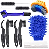 Oumers Bicycle Clean Brush Kit, Motorcycle Bike Chain Cleaning Tools Make Chain/Crank/Tire/Sprocket Cycling Corner Stain…
