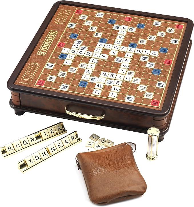 Scrabble Luxury Edition - Juego de Mesa (Lesuire Trends LTL10111) (versión en inglés): Amazon.es: Juguetes y juegos