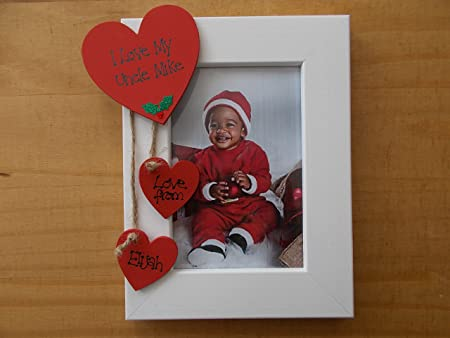 Personalised I Love My Uncle Christmas 6x4 Photo Frame Amazoncouk