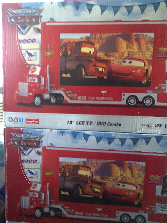 Disney C1900DLTDC Cars 48,26 cm LCD 720 píxeles 50 hz televisor con Reproductor de DVD: Amazon.es: Electrónica