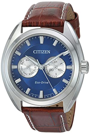 c30dbaa63 Citizen Men's Eco-Drive Stainless Steel Watch with Day/Date, BU4010-05L
