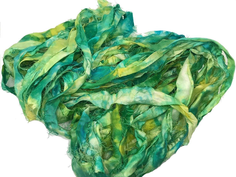 Amazon com: KnitSilk Super Bulky Recycled Sari Silk Ribbon