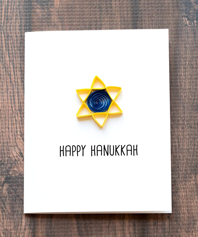 Amazon Happy Hanukkah Card Jewish Holiday Card 55 X 425 A2
