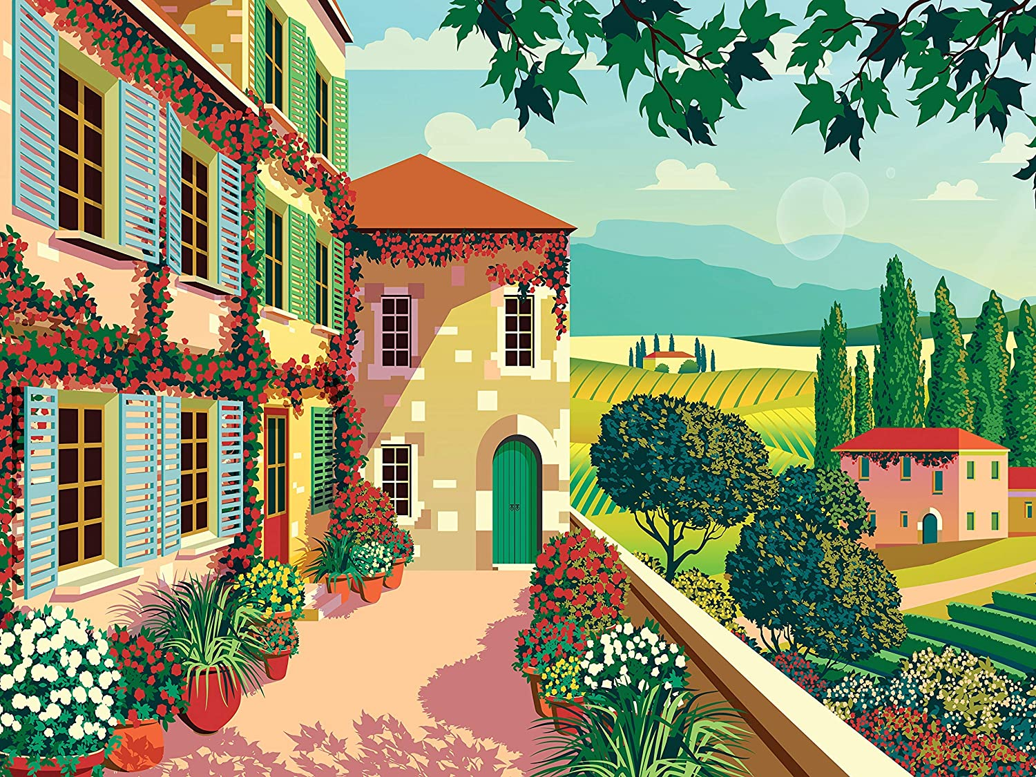 300 Piece Puzzle for Adults Tuscan Tranquility Jigsaw Puzzle