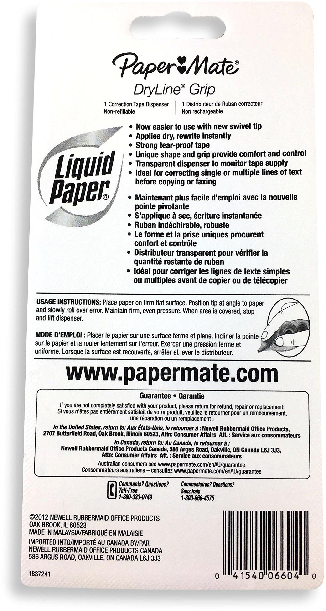 Liquid Paper 660415 White Liquid Paper Correction Film by Paper Mate (Image #3)