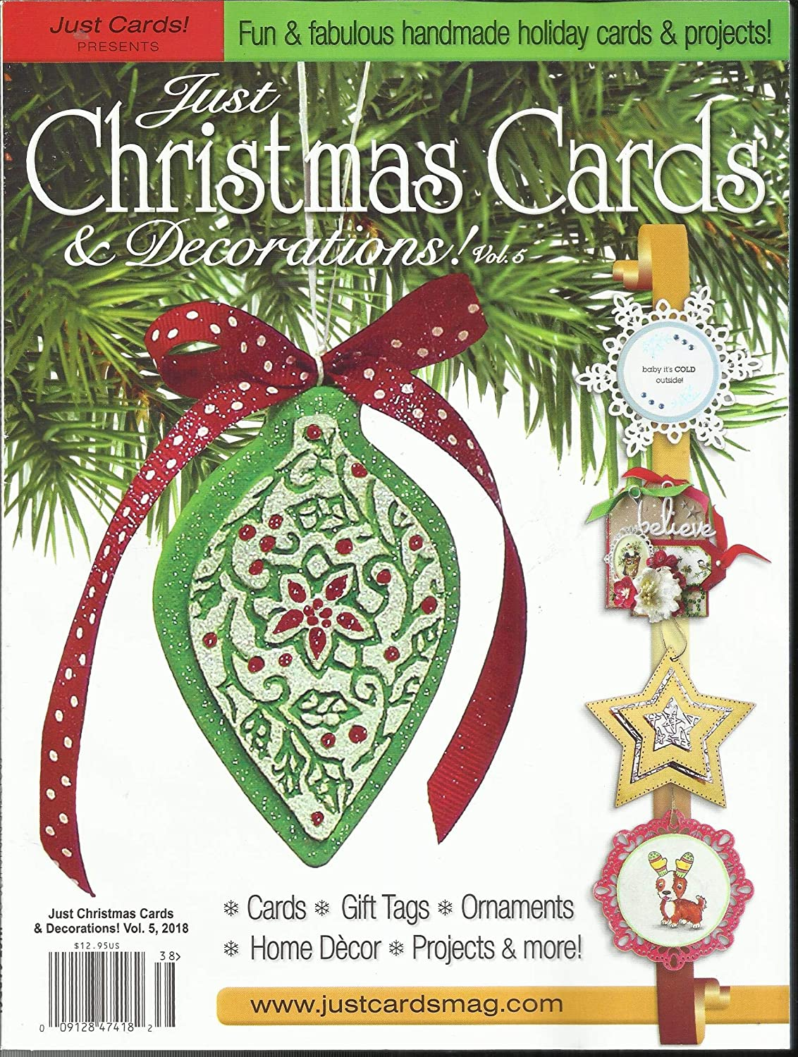 Amazon.com : JUST CARDS PRESENTS JUST CHRISTMAS CARDS & DECORATIONS ...