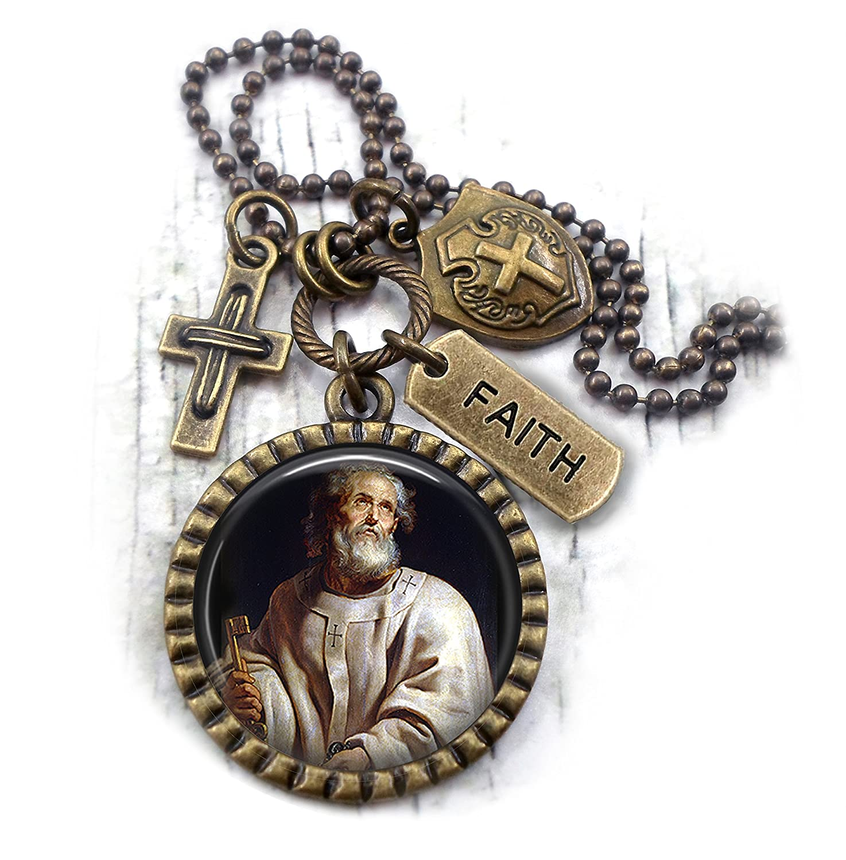 St. Paul Necklace, Patron Saint, Apostle Confirmation Gift, Catholic Jewelry, Boys, Teens, Men, Unisex