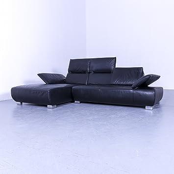 Koinor Volare Leder Ecksofa Schwarz Couch Funktion Echtleder 5383