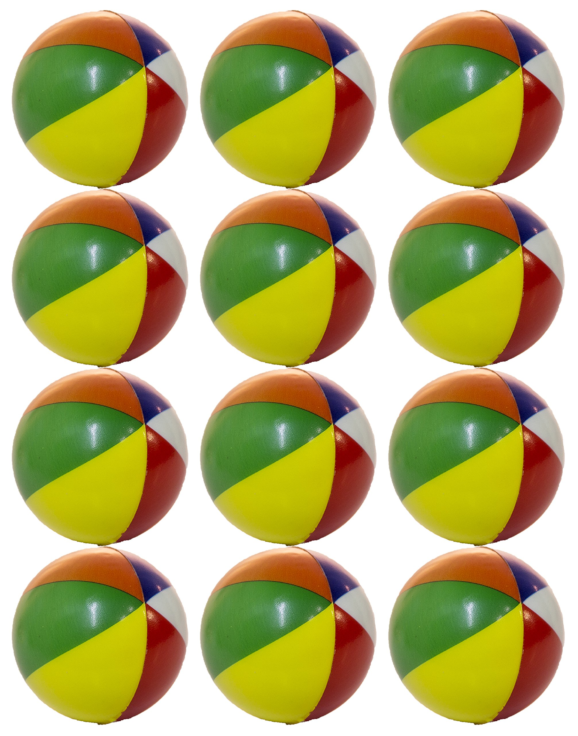 Set of 12 Mini Beach Ball 2 Inch Squeezable Stress Balls