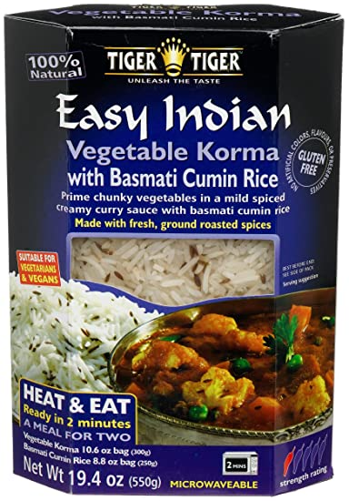 Amazon tiger easy indian heat eat vegetable korma with tiger easy indian heat eat vegetable korma with basmati cumin jeera rice forumfinder Gallery