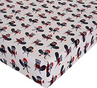 """product image for Glenna Jean Beaver Buddies Crib Sheet Fitted 28""""x52""""x8"""" Nursery Standard"""