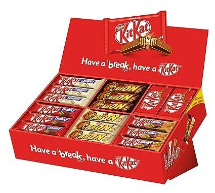 Nestlé Party Box (mit 6 Sorten KitKat und Lion, Schokoriegel-Mix, für große und kleine Naschkatzen, schokoladige Süßigkeiten)