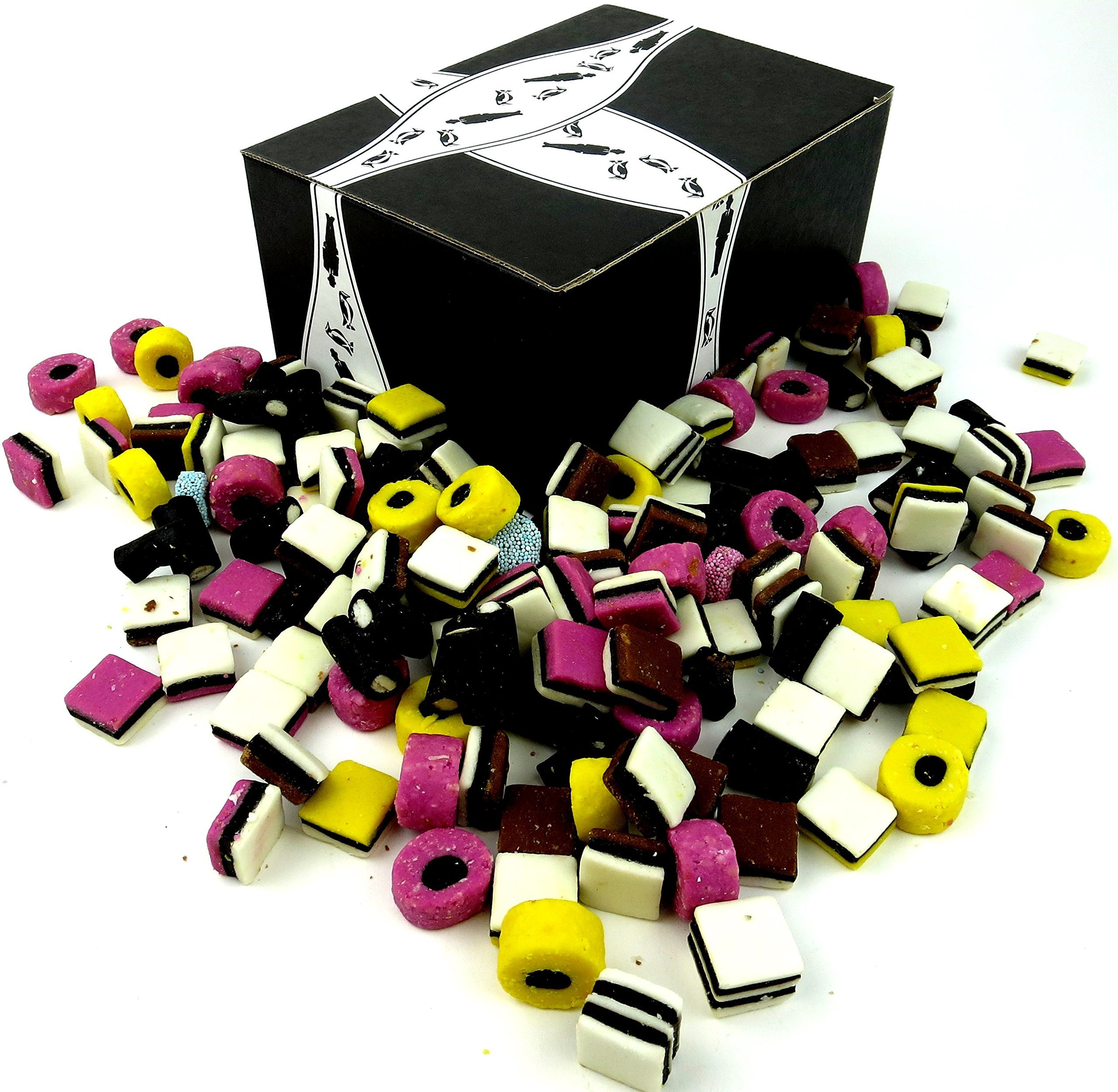 Licorice Allsorts by Cuckoo Luckoo Confections, 3 lb Bag in a BlackTie Box