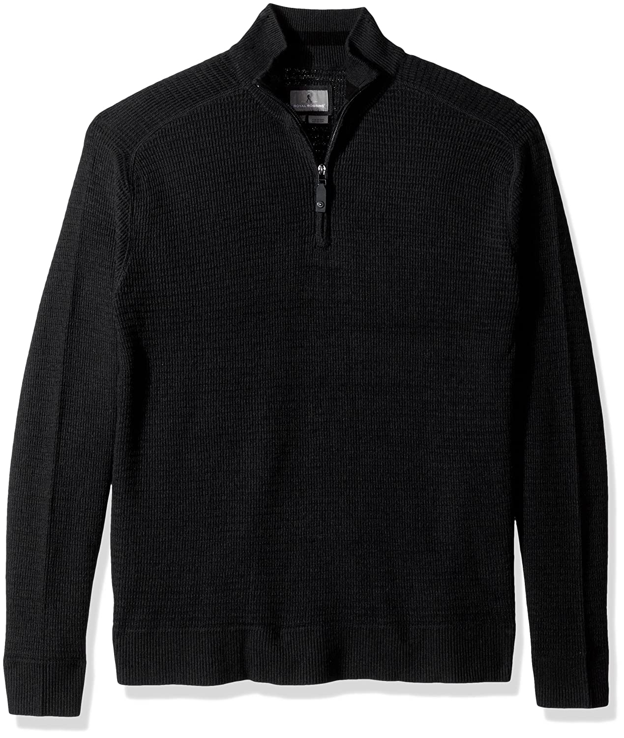 Royal Robbins Men's All Season Merino Thermal 1/4 Zip, Charcoal, Small