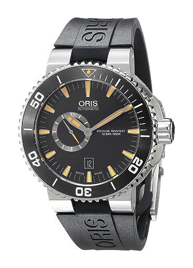 Oris 74376734159RS - Reloj de pulsera hombre, Caucho, color Negro: Amazon.es: Relojes