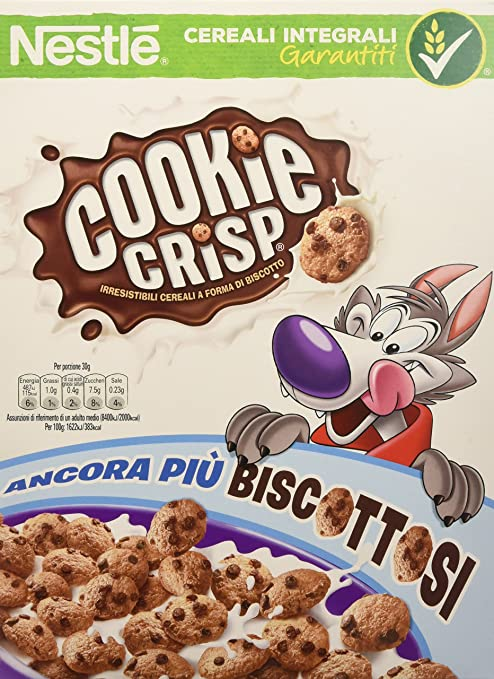12 opinioni per COOKIE CRISP cereali a forma di biscotto cookie 260g