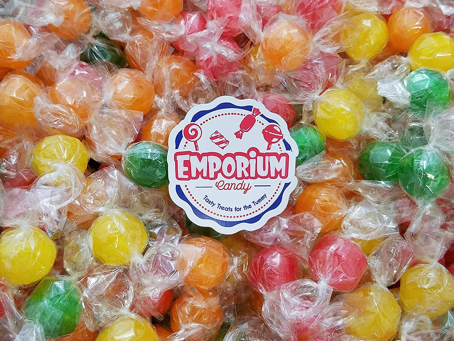 Colombina Sour Balls - Delicious Individually Wrapped Assorted Orange Lemon Strawberry Cherry Green Apple Candy - 2.5 lbs Bulk Candy with Refrigerator Magnet