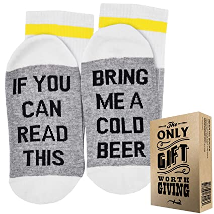 BEER SOCKS GIFT BOX QuotIf You Can Read This Bring Me A Cold