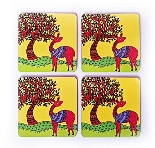 Set of 4 Art Coasters