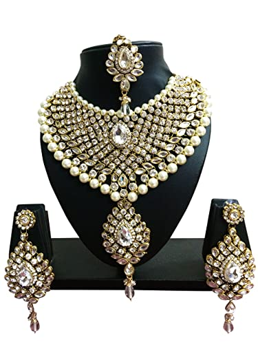 56ea83a345c00 CROWN JEWEL Indian Bollywood Ethnic Wedding Bridal Gold Plated Fashion  Jewelry Necklace Earrings Set For Womens