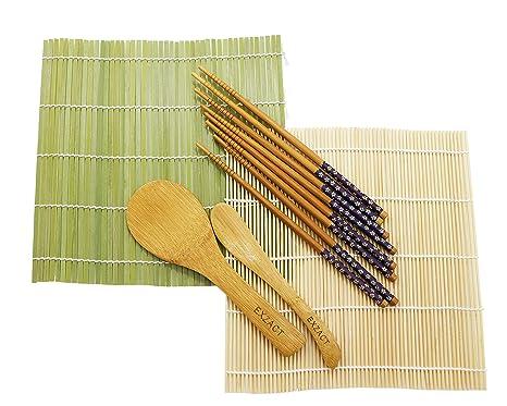 Amazon.com: EXZACT ex-sm10 Sushi Maker Kit 10pcs/Rice Roll ...