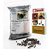 Pure Whole Black Peppercorns, Premium Quality, FDA approved, No Pesticides, Steam Sterilized for Freshness, Resealable Bag 7 Ounces