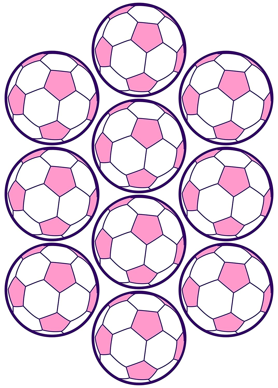 28, Fútbol, pegatinas, 50 mm, color rosa/lila, de PVC, pantalla ...