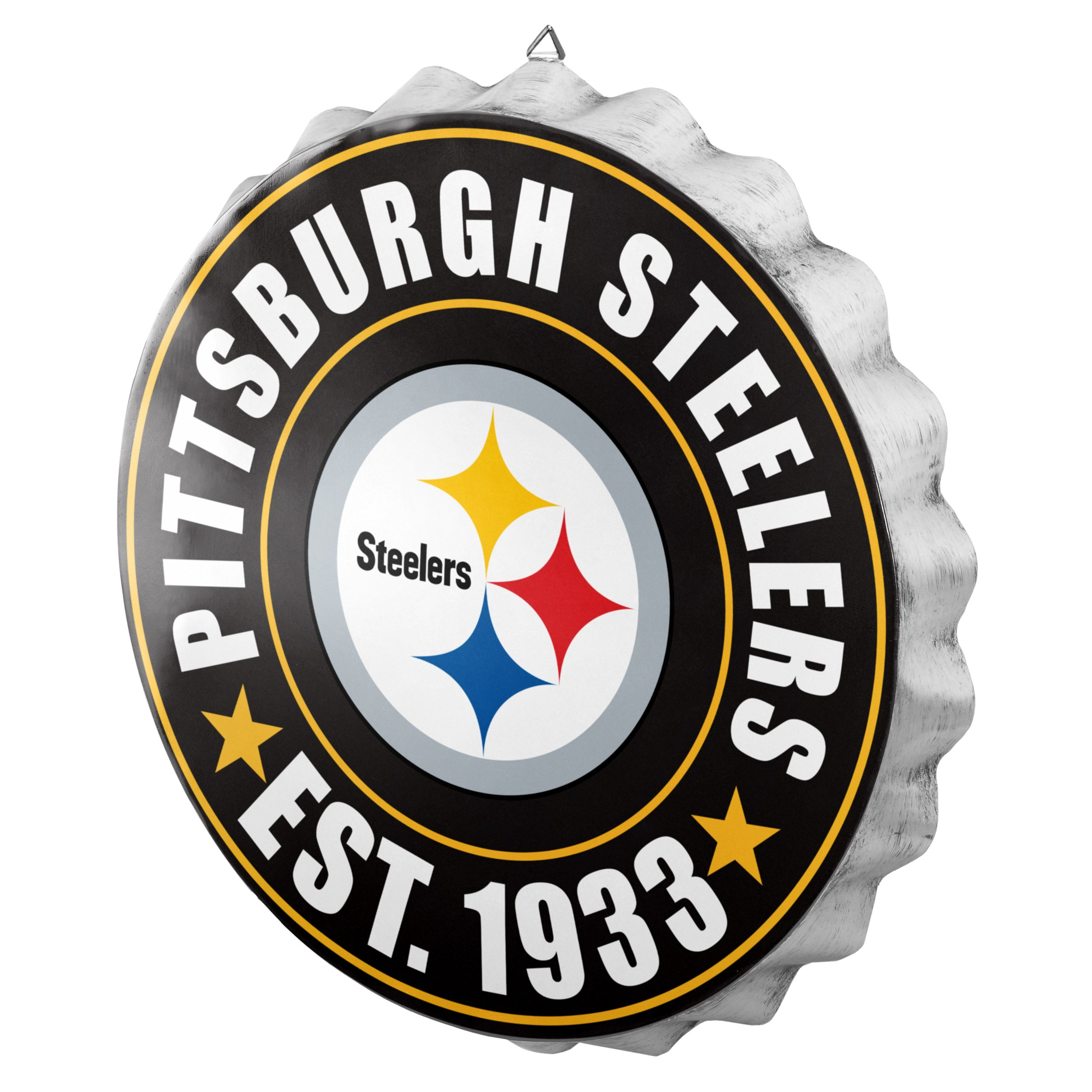 Pittsburgh Steelers NFL Bottle Cap Wall Sign