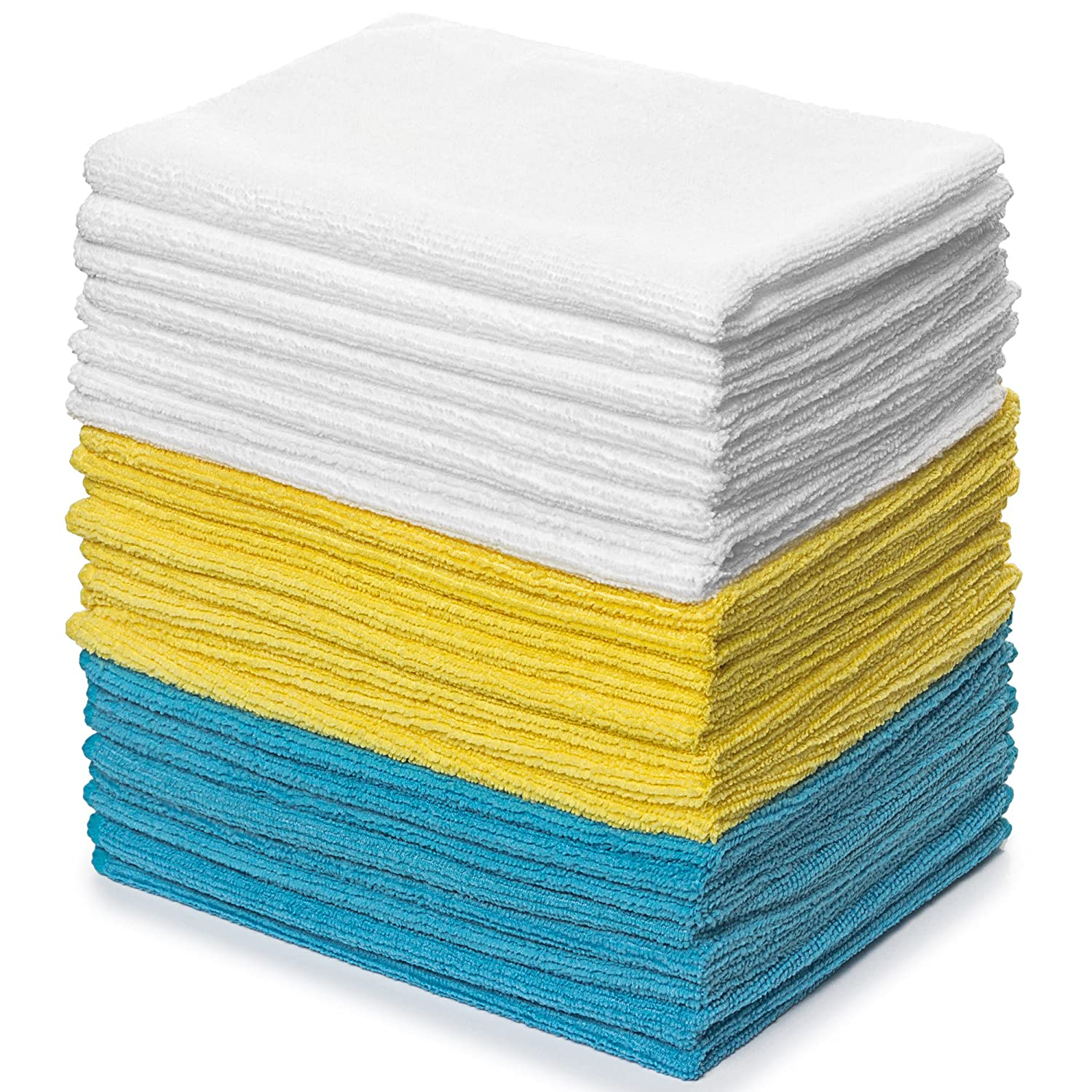 Royal Microfiber Cleaning Washcloths - 48 Pack Towels - 12 x 16 inches - Highly Absorbent, Ultra Soft and Reusable - Lint Free and Streak Free Equinox International 5854760