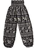 Love Quality Ladies Baggy Harem Pants Elephant Print Maternity Hippie Pants
