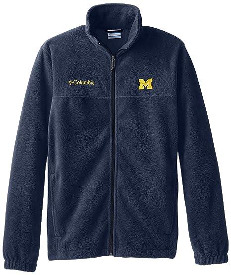 b2b86308 Amazon.com: NCAA Michigan Wolverines Men's Collegiate Flanker II Full Zip  Fleece Sweater: Clothing