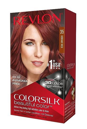 Amazon Com Revlon Colorsilk Haircolor Vibrant Red Chemical Hair